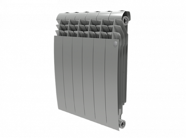 Радиатор биметаллический Royal Thermo Biliner 500 new Silver Satin - 4 секции