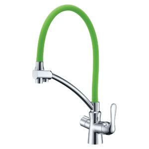 Смеситель Lemark Comfort LM3070C-Green для кухни  с подключением к фильтру с питьевой водой