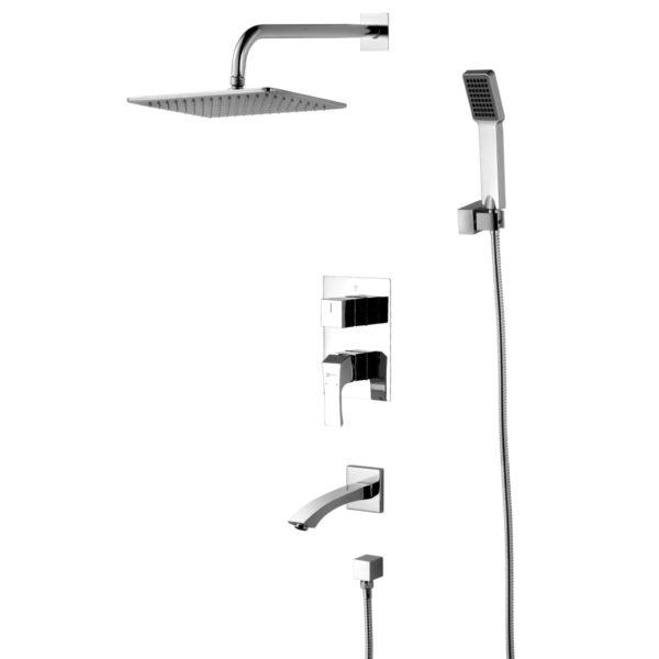 Смеситель встраиваемый Lemark Unit LM4522C для ванны и душа