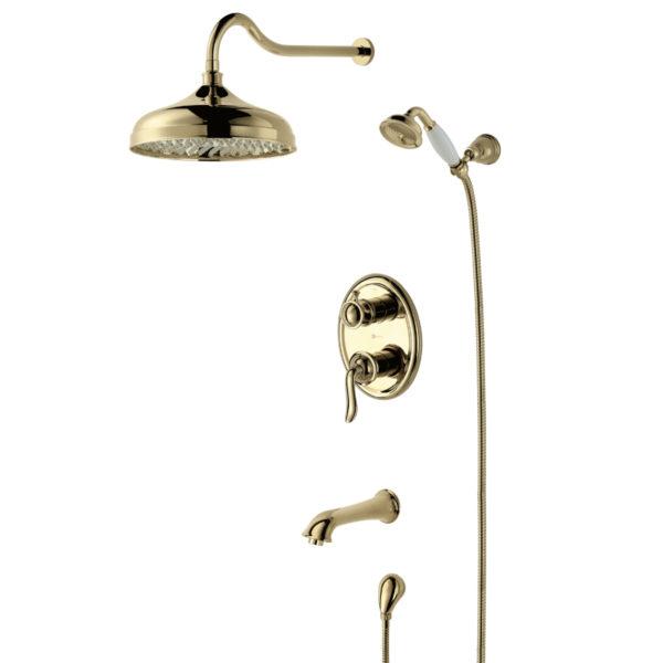 Смеситель встраиваемый Lemark Brava LM4722G для ванны и душа
