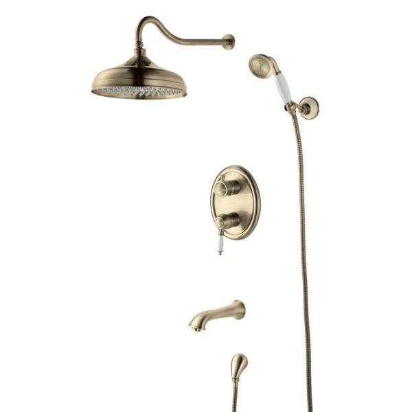 Смеситель встраиваемый Lemark Villa LM4822B для ванны и душа