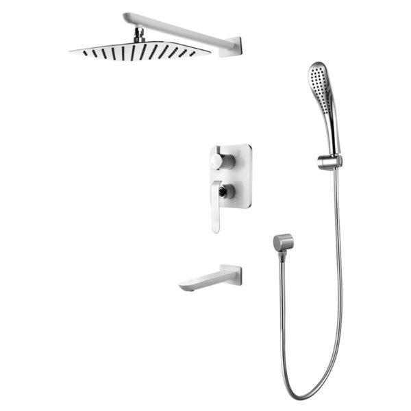 Смеситель встраиваемый Lemark Melange LM4922CW для ванны и душа