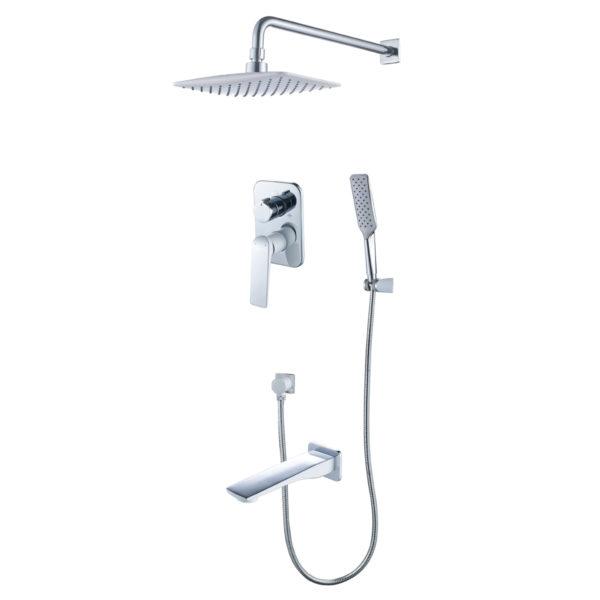Смеситель встраиваемый Lemark Allegro LM5922CW для ванны и душа