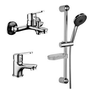 """Комплект смесителей Lemark Set LM7301C для ванной """"3 в 1"""""""