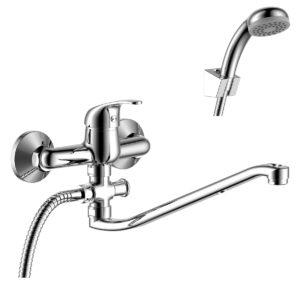 Смеситель Rossinka Y35-35 для ванны с S-образным изливом