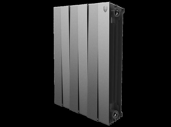 Радиатор биметаллический Royal Thermo PianoForte 500/Silver Satin - 12 секций