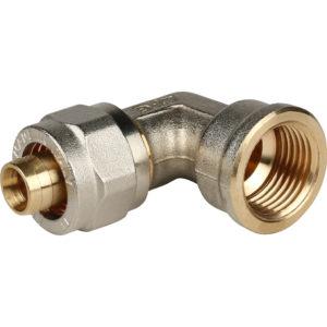 Угольник 16 х 1/2 ц/г для м/пл труб STOUT SFS-0007-001216